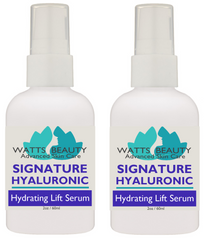 Signature 100% Pure Hyaluronic Acid Serum for Face - Attracts & Retains Moisture to Plump, Lift & Smooth - WattsBeautyUSA.com