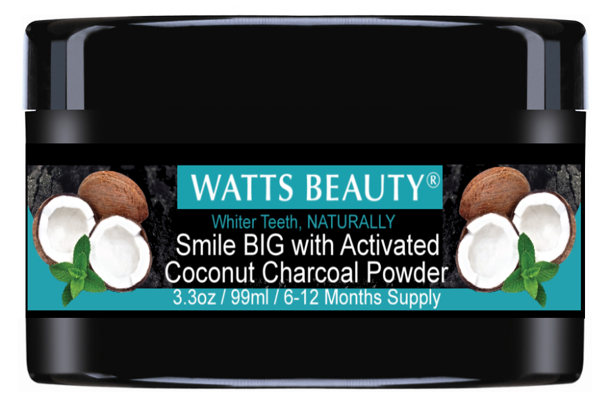 Watts Beauty Activated Charcoal Teeth Whitening Powder - Natural Teeth Whitening Charcoal - WattsBeautyUSA.com