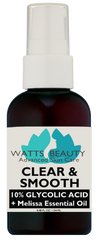 Watts Beauty Clear and Smooth Blemish Serum with Glycolic + Melissa Essential Oil