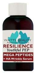 Watts Beauty Peptide Wrinkle Serum with Facial Line Targeting Tripeptides 3 & 5 - RESILIENCE MEGA PEPTIDE COMPLEX Serum for Face - WattsBeautyUSA.com