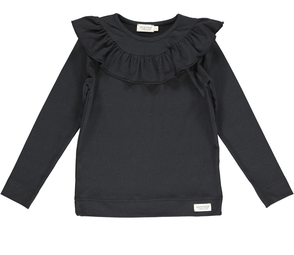 MarMar Long Sleeve Jersey Ruffle T-Shirt