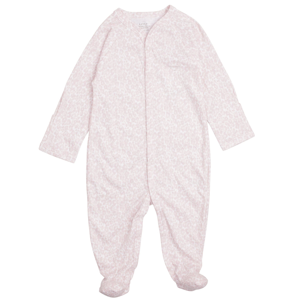 Livly Leo Flower Baby Girl Simplicity Footie