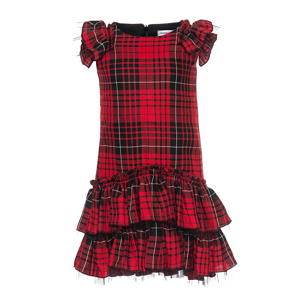 Monnalisa Vaiella Plaid Dress