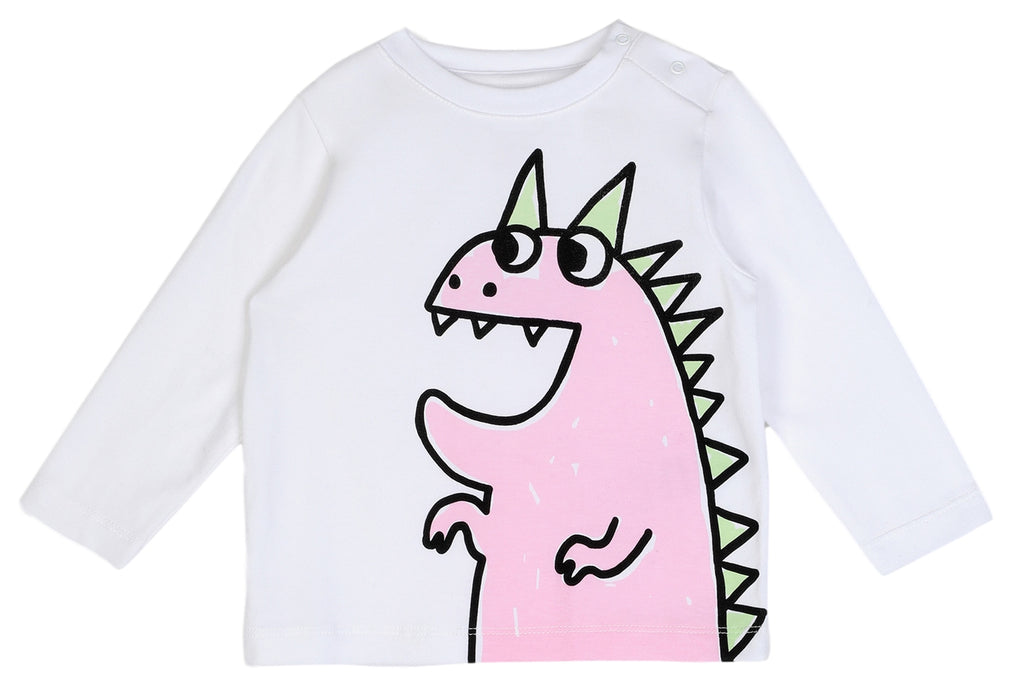 Stella McCartney Girl Long Sleeve Dragon Tee Shirt