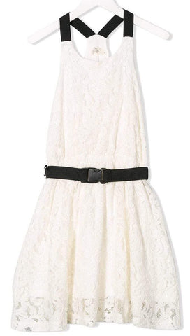 Andorine 20B Belted Lace Dress