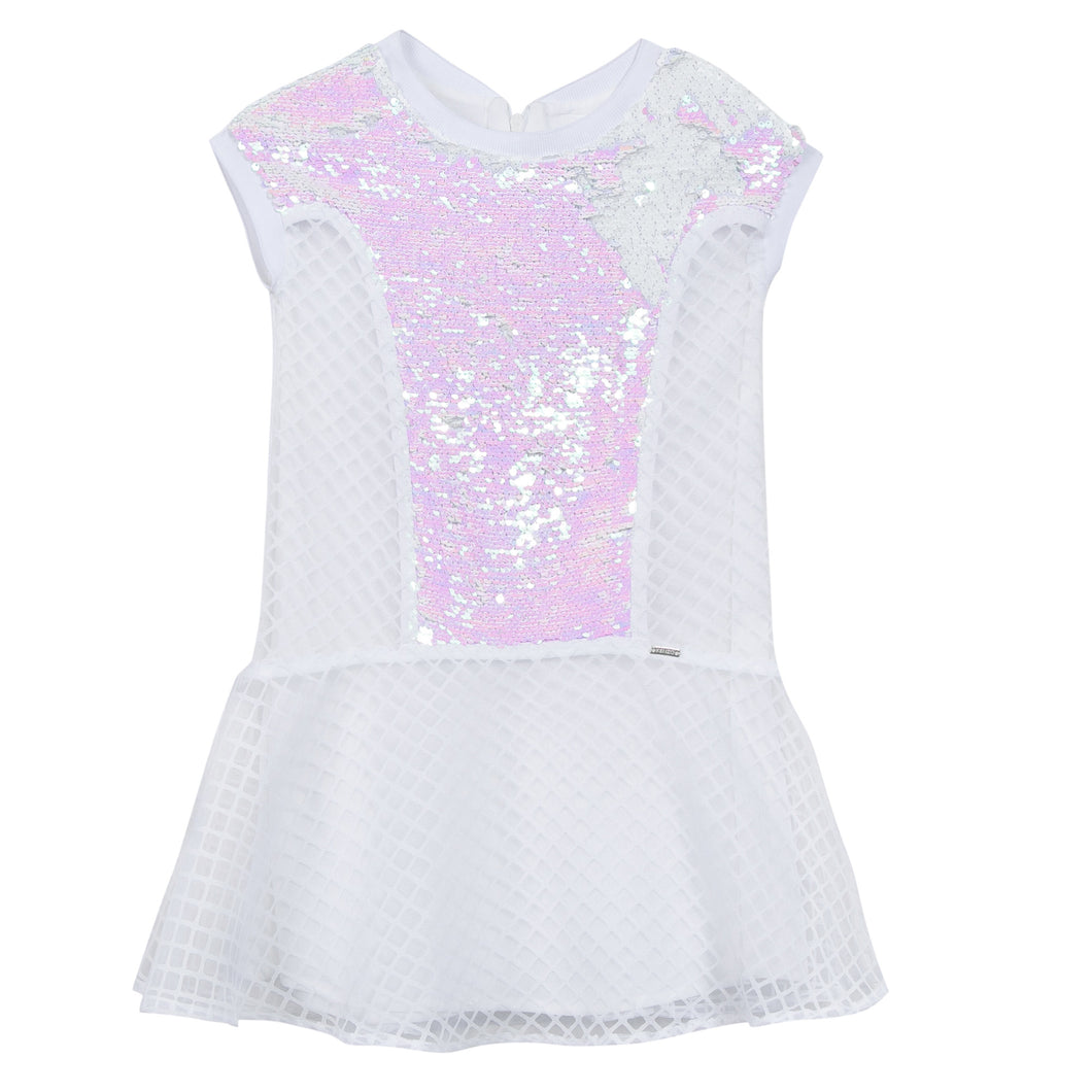KZ60Q-13-BEATRIX-C Lattice Sequined Front Dress
