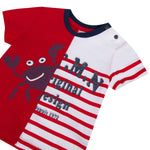Catimini Short Sleeve Crabs Tee Shirt