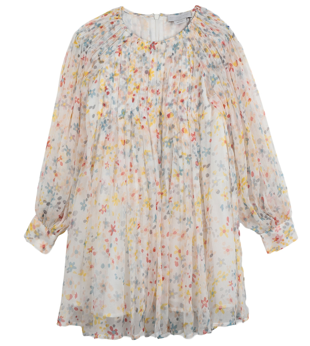 Stella McCartney Painted Flowers Silk Dress