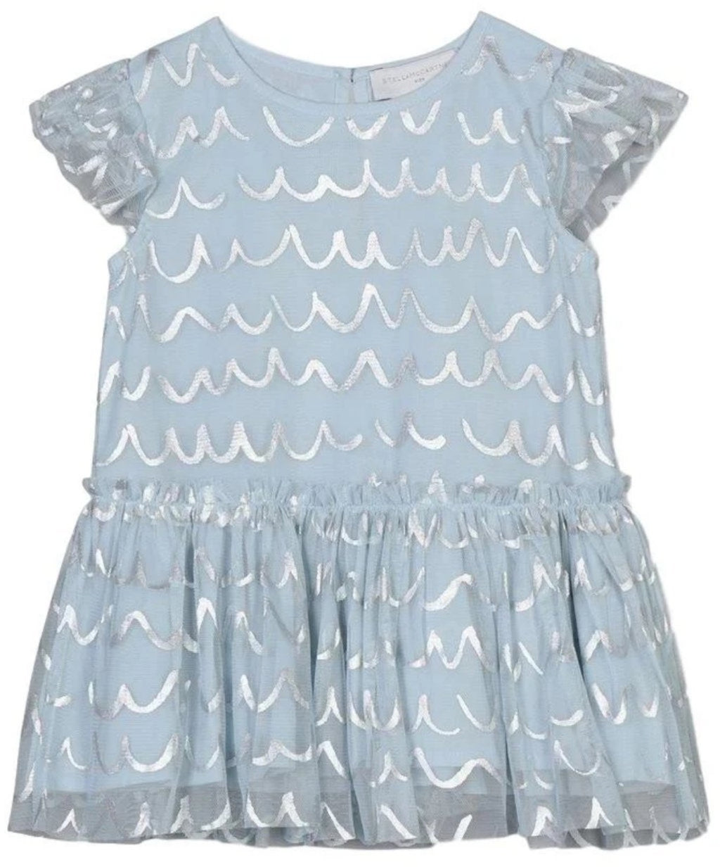 Stella McCartney Baby Shell Foil Tulle Dress