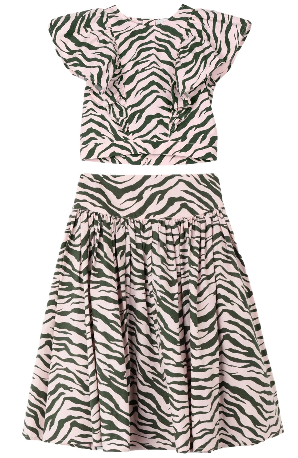 Stella McCartney 2pc Zebra Skirt Set