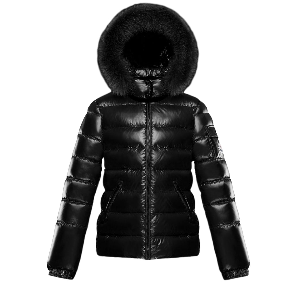 Moncler Bady Fur Hooded Down Jacket