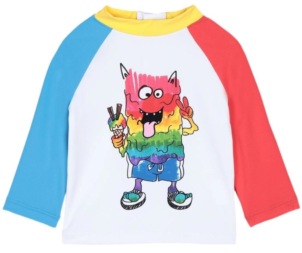 Stella McCartney Baby Rainbow Monster Swim T-Shirt
