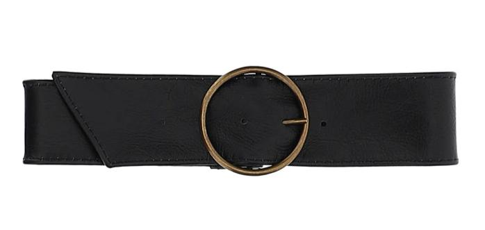 Monnalisa Leather Ring Belt