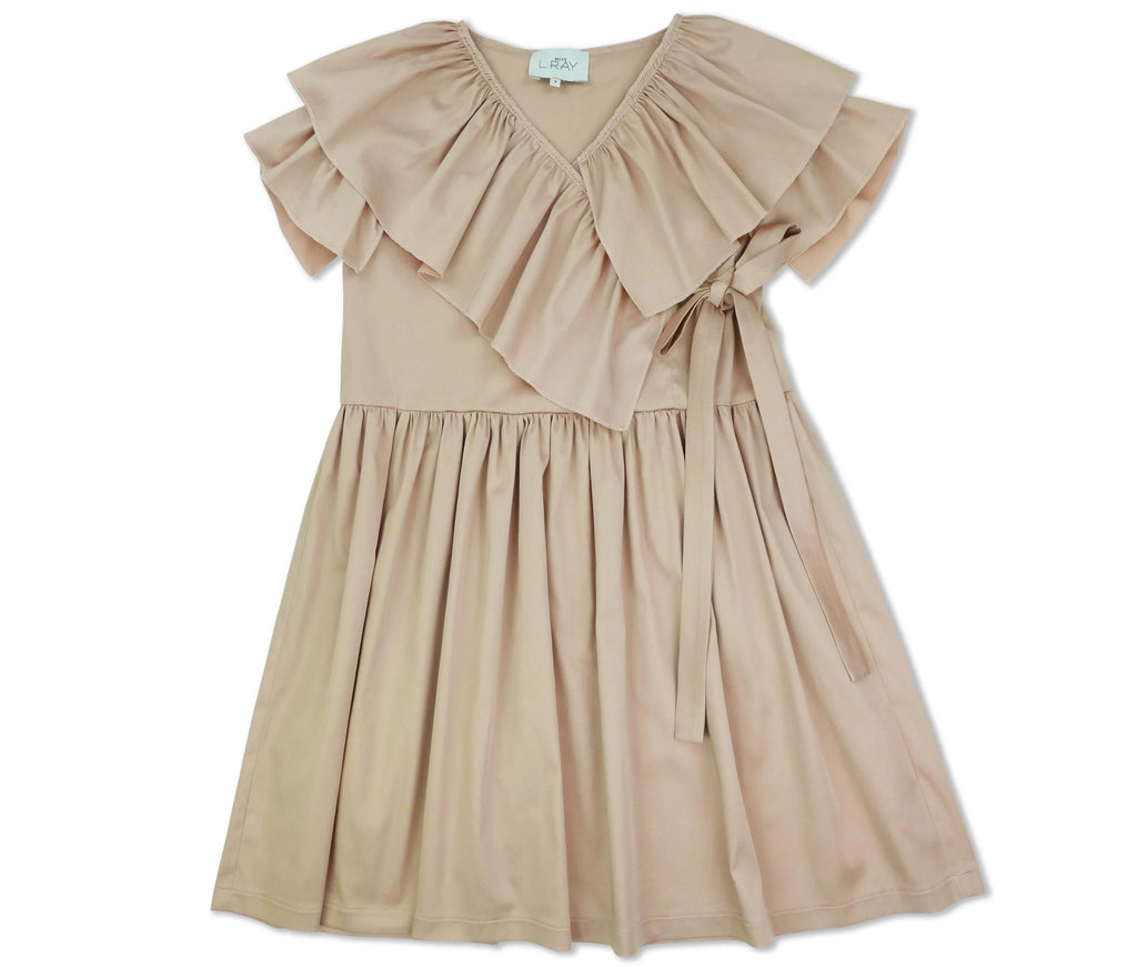Miss L.Ray Lana Diagonal Ruffle Dress