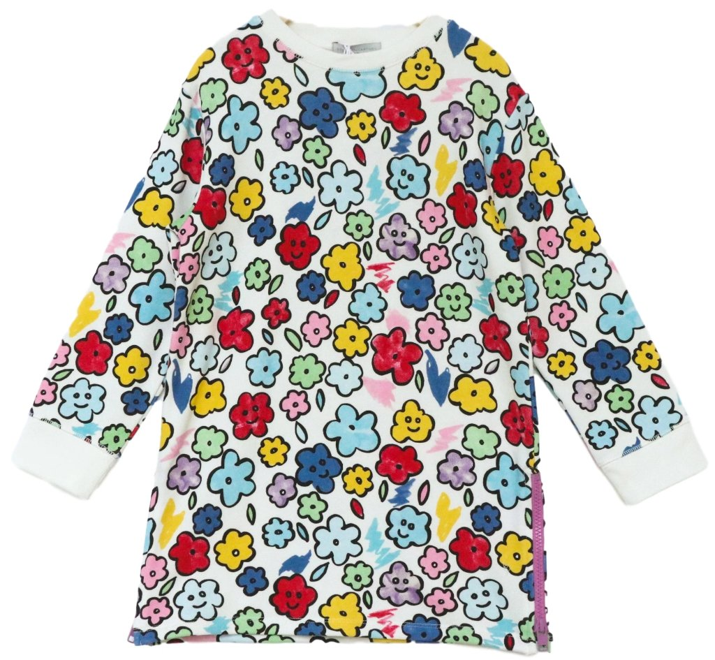 Stella McCartney Smiling Flowers Sweater Dress
