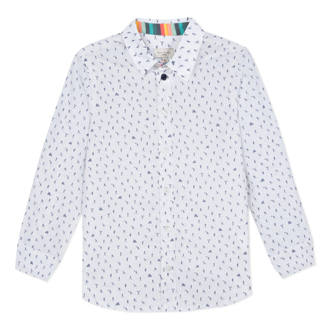 Paul Smith Junior Vernon Patterned Dress Shirt