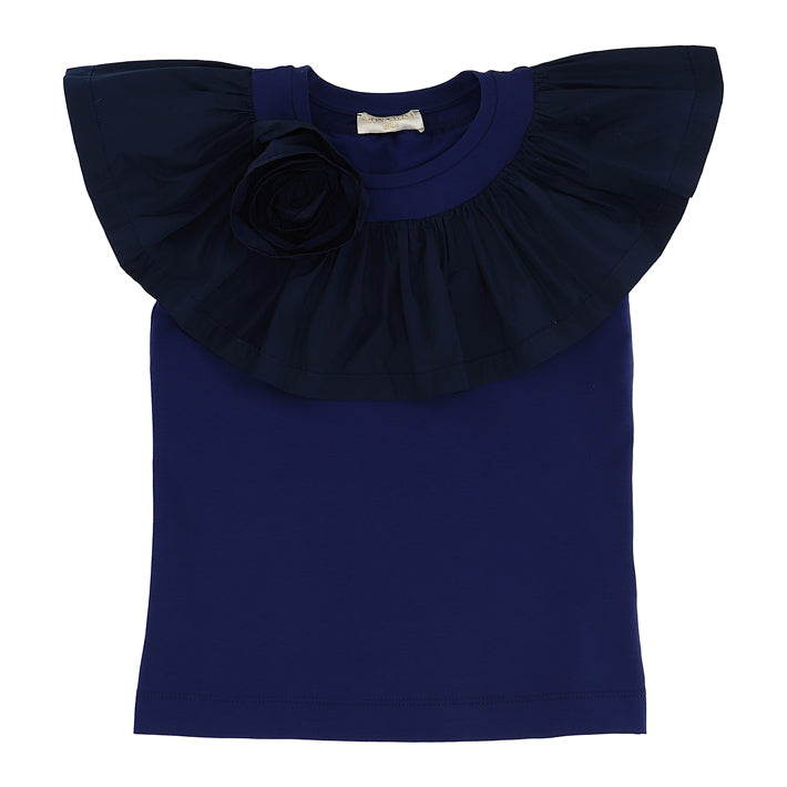 Monnalisa Patty Taffeta Sleeve Top