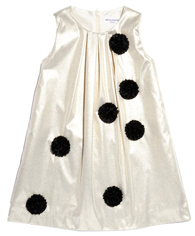 Sonia Rykiel Badia Sleeveless Taffeta Dress w/Pom Pom