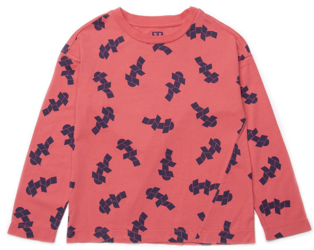 Barn of Monkeys BOM18004 Print Long Sleeve Tee