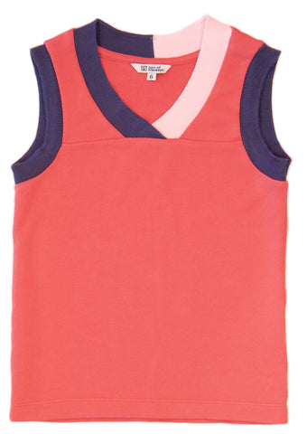 Barn of Monkeys BOM18012 Contrast Neck Tank Top