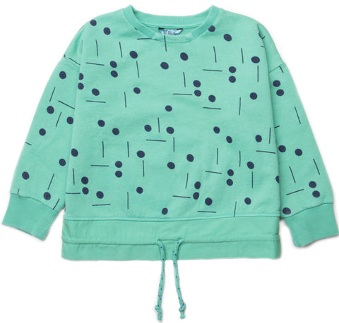 Barn of Monkeys BOM18016 Woven Ruffle Sweatshirt