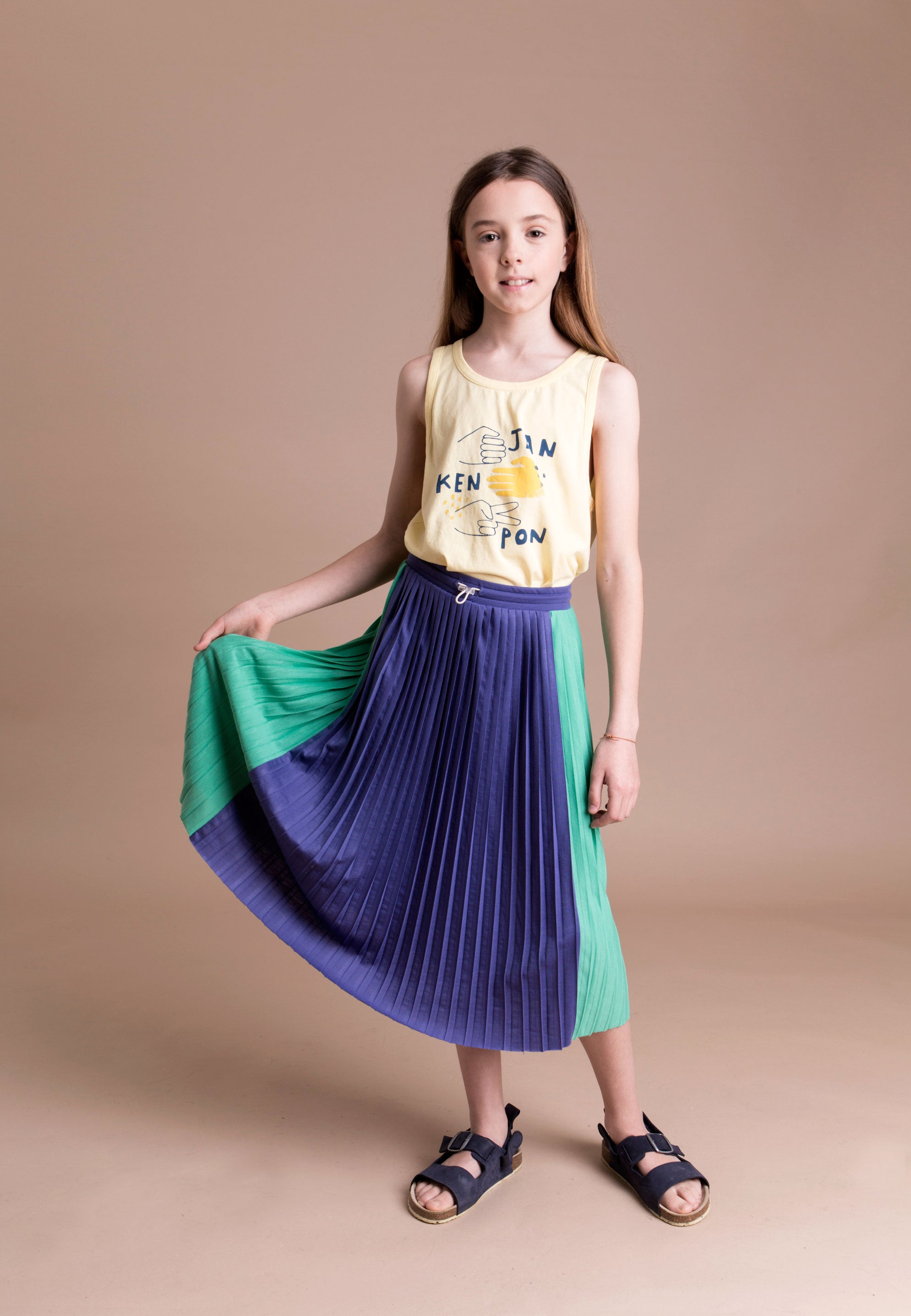 Barn of Monkeys BOM18040 Pleated Midi Skirt