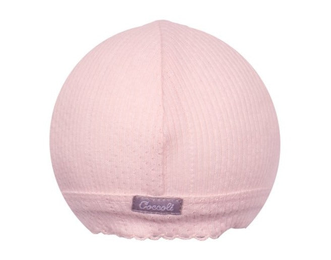 Coccoli Baby Girl Pointelle Hat