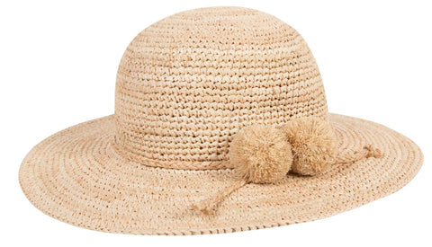 Lili Gaufrette Greatwood Woven Straw Sunhat