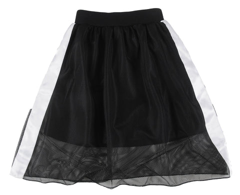 Loud Apparel Peak Motif Applique Knee Length Skirt
