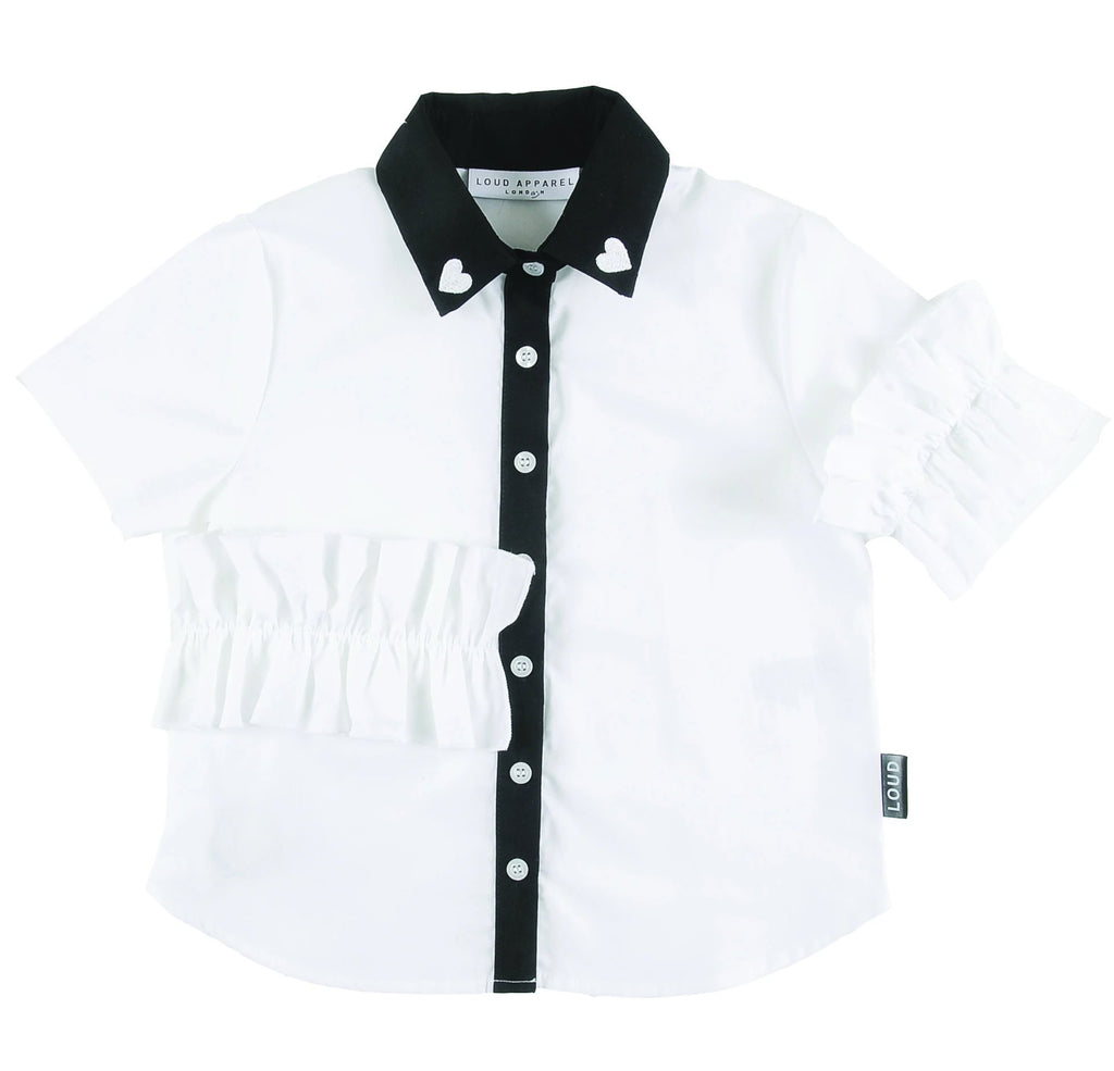 Loud Apparel Roller Ruffle Collar Shirt
