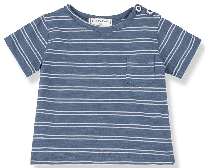 One + In the Family Luca Striped Tee Shirt