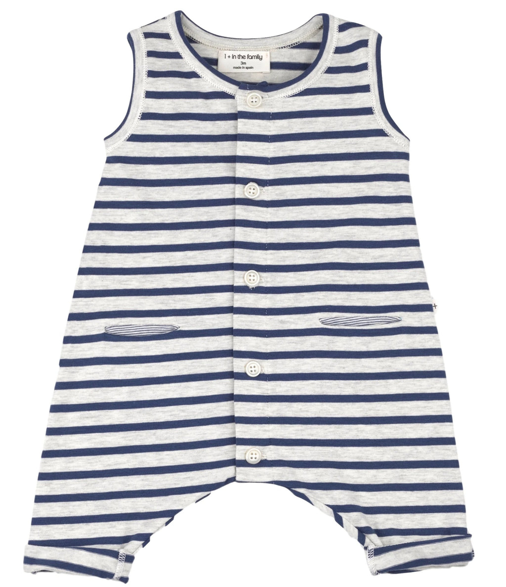 One + In the Family Baby Boy Monaco Sleeveless Romper
