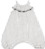 One + In the Family Monty Striped Overall