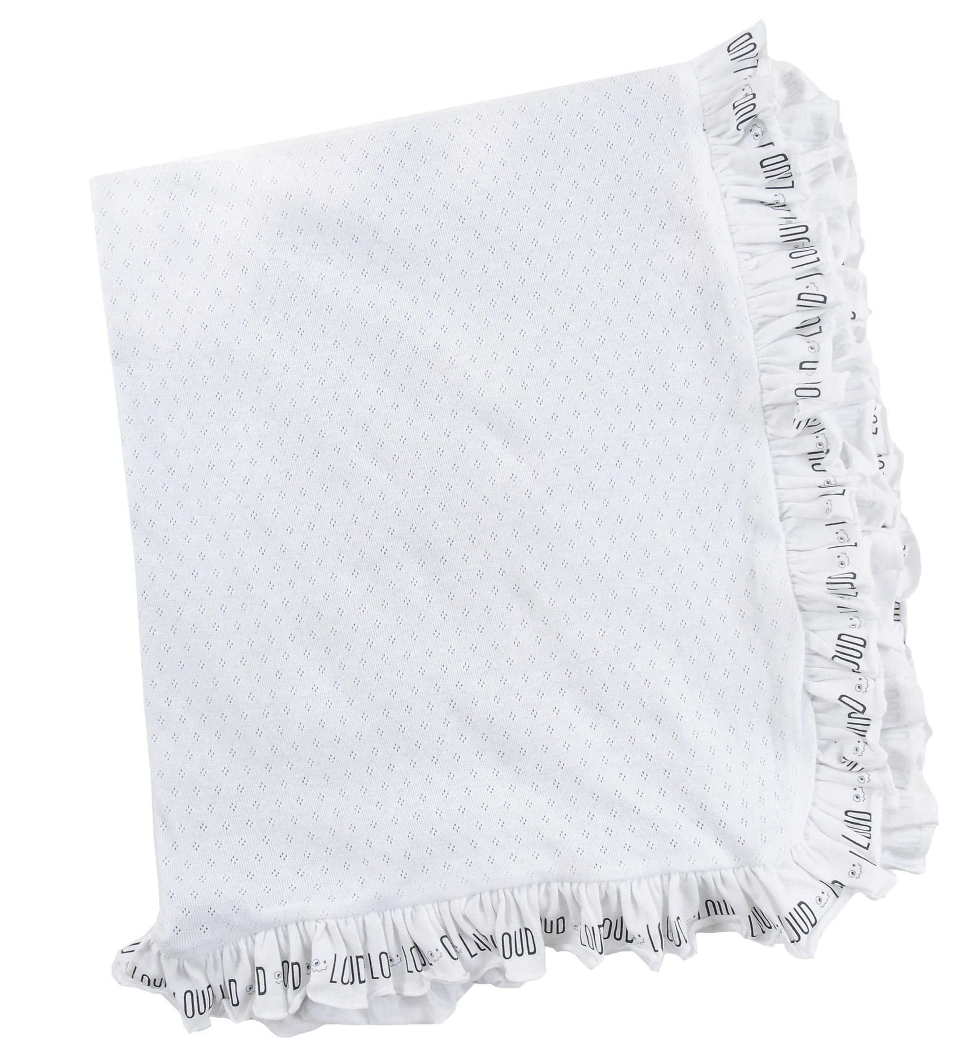 Loud Apparel Cuddle Ruffle Blanket