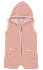 One + In the Family Baby Girl Nuoro Hooded Romper