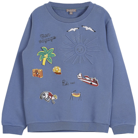 Emile et Ida 106H Embroidered Sweatshirt
