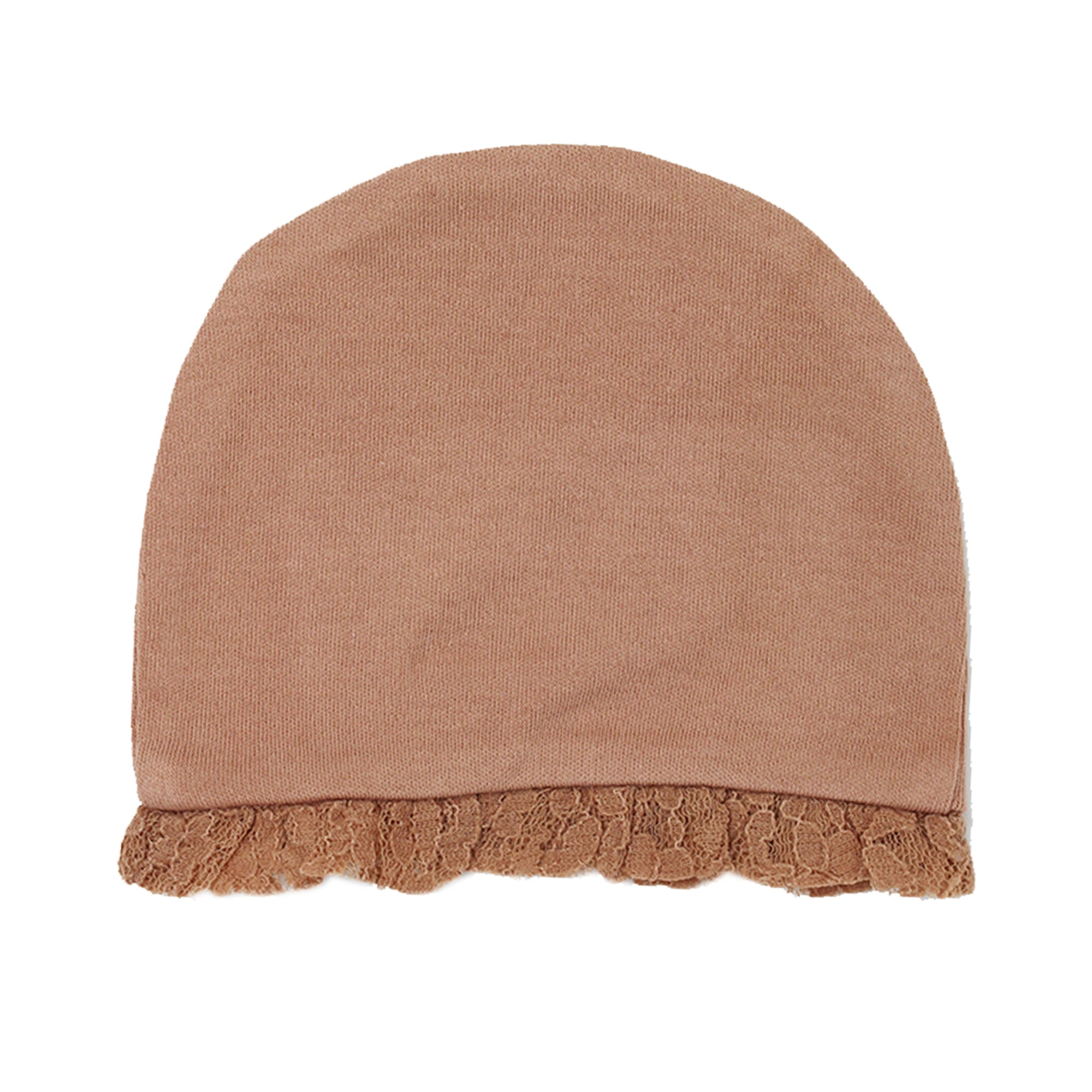 L'Oved Baby OR374 Organic Lace Ruffle Cap