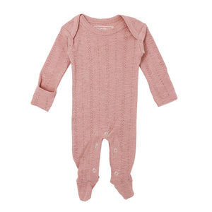 L'ovedbaby Baby Girl Pointelle Footie