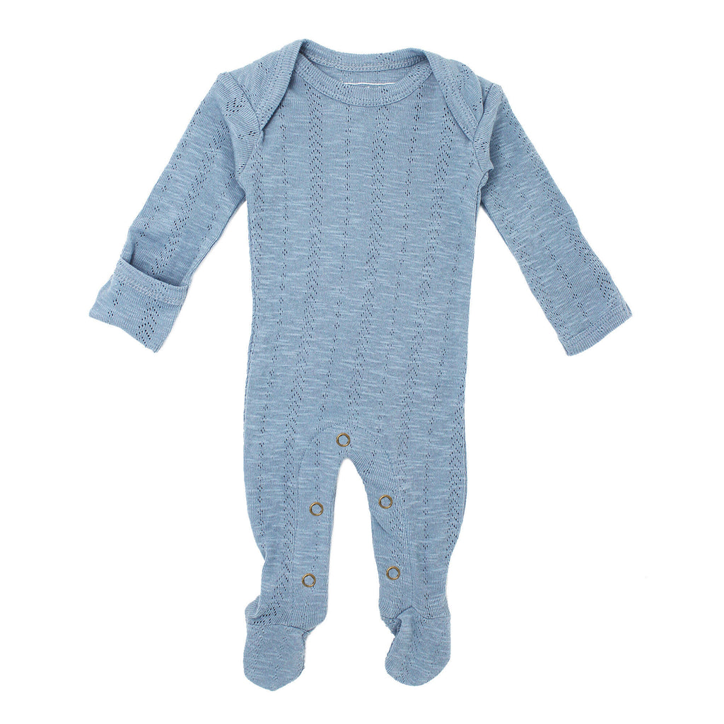 L'ovedbaby Baby Boy Pointelle Footie