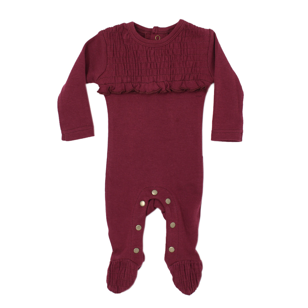 L'Oved Baby OR437 Organic Smocked Overall