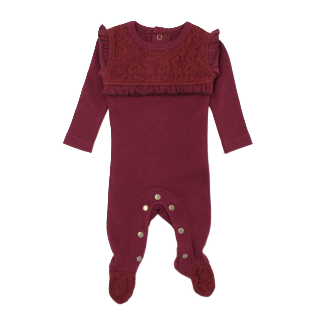 L'Oved Baby OR438 Organic Lace Overall