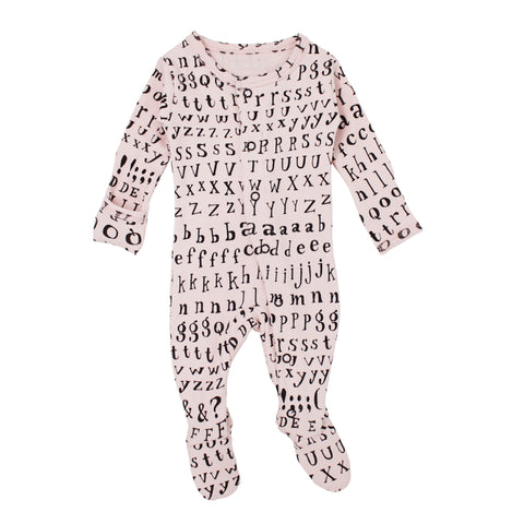 L'Oved Baby OR444LTR Letters Organic Footed Overall