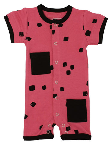 L'Oved Baby OR459 Organic Short Sleeve Romper