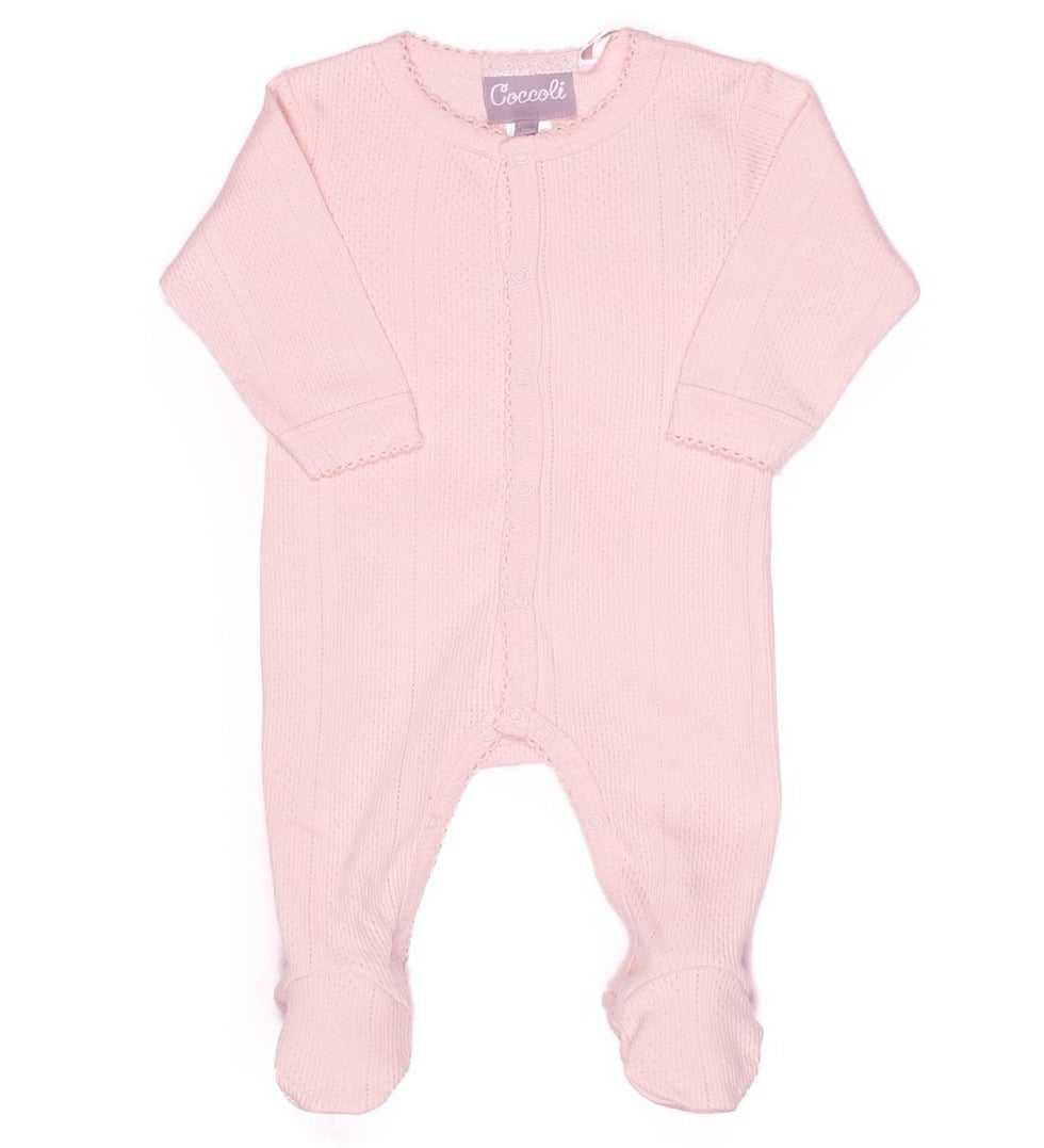 Coccoli Baby Girl Pointelle Footie