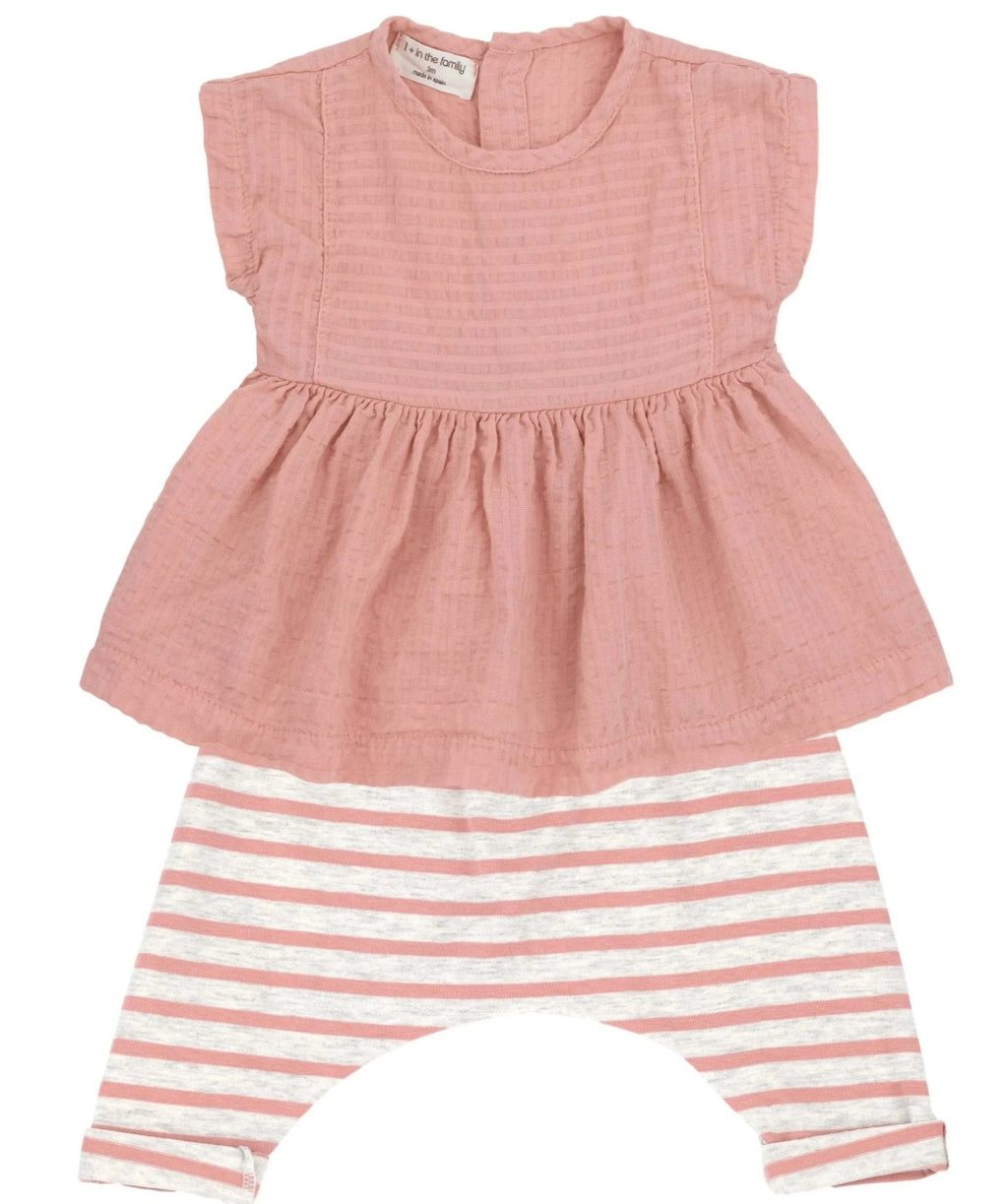 One + In the Family Baby Girl Deva & Sammy Outfit Set