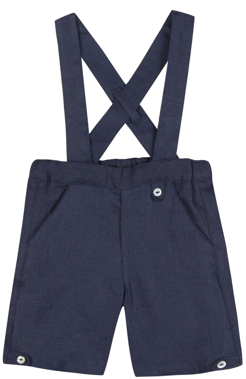 Tartine Pantalon14 Linen Suspender Pants