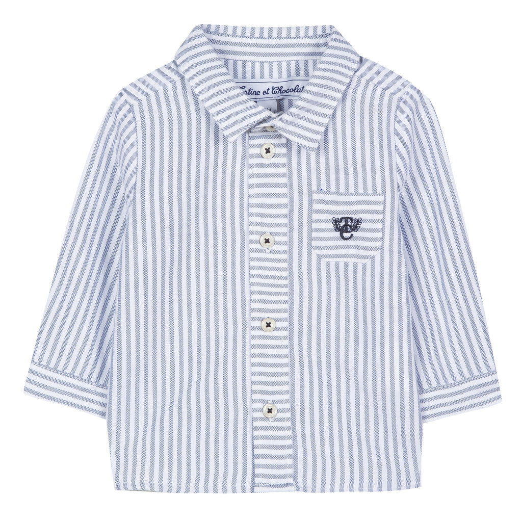 Tartine Chemise9 Striped Button Down Shirt