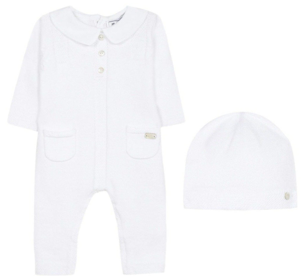 Tartine Newborn Knit Romper & Hat Set