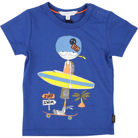 Little Marc Jacobs Mr. Marc Short Sleeve T-Shirt