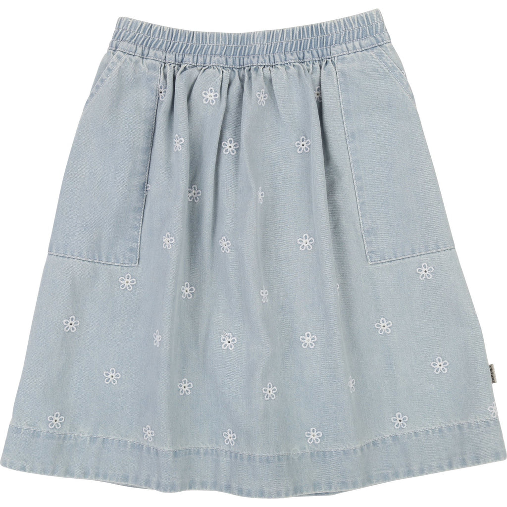 Little Marc Jacobs Embroidered Daisy Denim Skirt